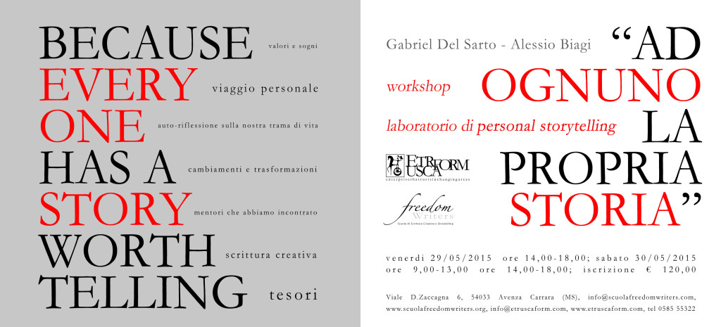 workshop/laboratorio personal storytelling